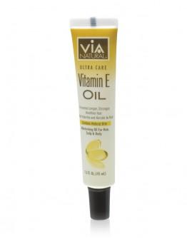 Via Natural Oil for Hair, Scalp & Body Treatment (Vitamin E Oil) (1.5 oz)