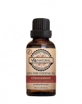 Via Natural 100% Pure Essential Oil - Cinnamon Oil (1 oz)