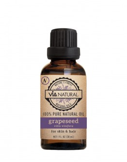 Via Natural 100% Pure Natural Oil - Grapeseed Oil (1 oz)