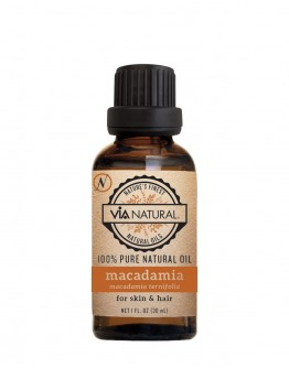 Via Natural 100% Pure Natural Oil - Macadamia Oil (1 oz)