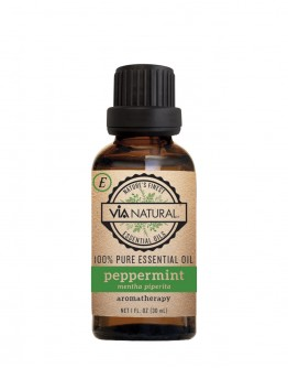 Via Natural 100% Pure Essential Oil - Peppermint Oil (1 oz)